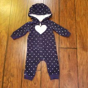 Carter's fleece one piece outfit